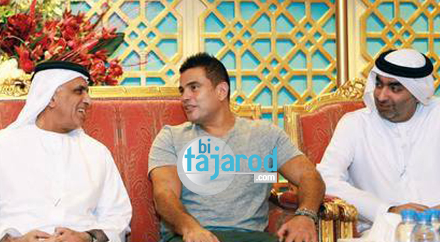 خاص بالصورة: عمرو دياب في ضيافة حاكم امارة رأس الخيمة سمو الشيخ سعود القاسمي يستقبل في قصر رأس الخيمة