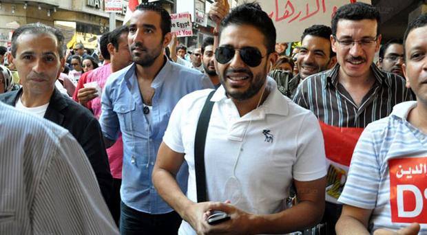 محمد حماقي من مسيرة المثقفين: أتمنى الوصول إلى مصالحة وطنية وتوحيد المصريين