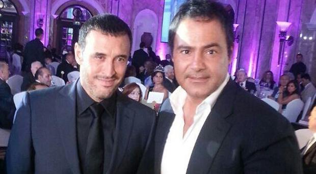 بالصور: عاصي الحلاني مكرّم، مع كاظم الساهر في وسط بيروت وعلى العشاء مع ليلى الصلح