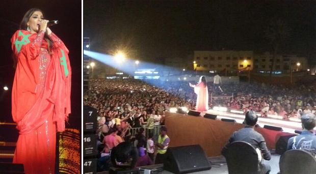 بالصور: دينا حايك تتالّق بلأحمر في مهرجان جوهرة في المغرب