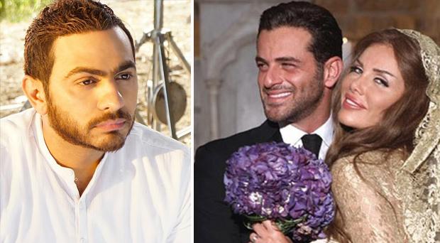 تامر حسني يبارك لنيكول سابا ويوسف الخال بإبنتهما نيكول الخال