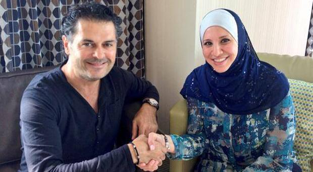 راغب علامة إلتقى رئيسة النادي اللبناني قبل مغادرته لـ ديترويت