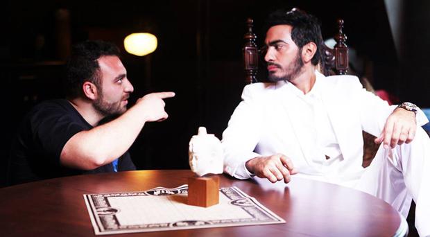 تامر حسني ينشر صوراً خاصة من فيديو كليب Arabian Knight إخراج Tarik Freitekh