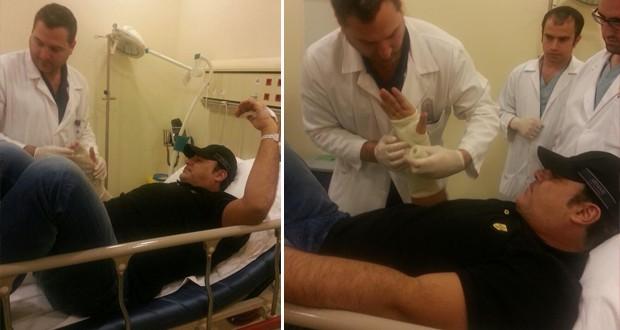 محدّث بالصور: عاصي الحلاني كسر يده أثناء ممارسته الرياضة ونقل إلى المستشفى