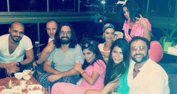 أولاً بالصورة: سيرين عبد النور وجوزيف عطية في سهرة مميزة مع أصدقائهما