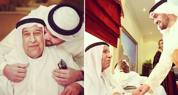 بالصور: حسين الجسمي يزور دار المسنين في عجمان