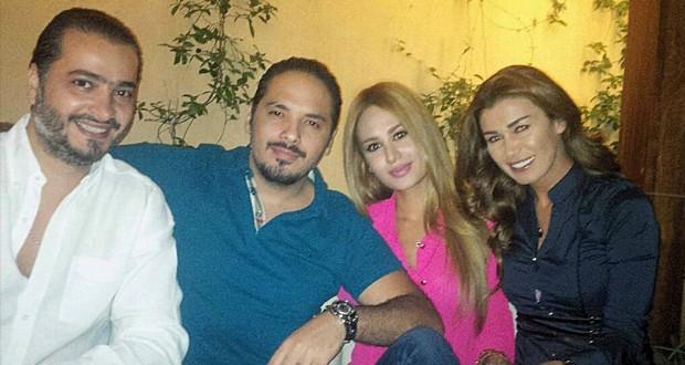 أولاً بالصورة: نادين الراسي زارت رامي عياش في منزله، فماذا سيجمع بينهما؟