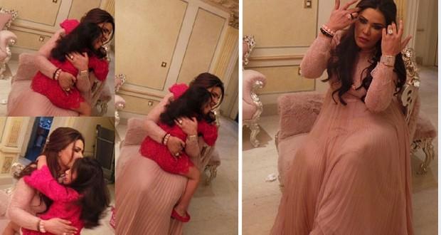 بالصور: أحلام حضرت زفاف الشيخه هيا والشيخ ناصر الثاني مع بناتها و D&G صمما لهما فستان خاص