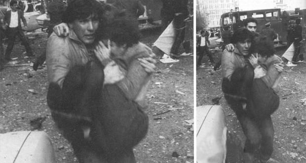 بالصورة: العميد علي جابر يسعف الجرحى خلال الحرب اللبنانية