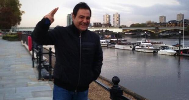 عاصي الحلاني يرفع يده المكسورة في لندن ويصور إعلان خاص بحفل رأس السنة مع هيفاء