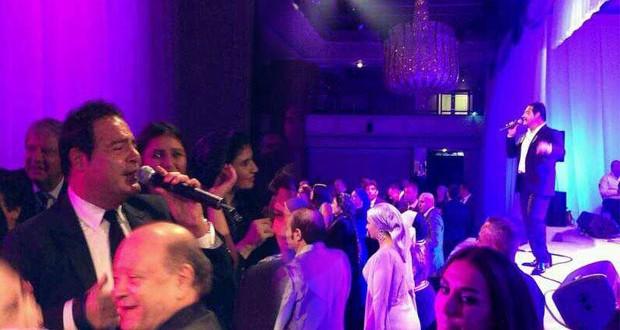 بالصور: عاصي الحلاني أحيا حفل زفاف ضخم في لندن، وقدّم أغنية مع سمير صفير