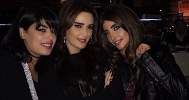 بالصورة: سيرين عبد النور في عشاء مع كوليت إسكندر ومايا حداد