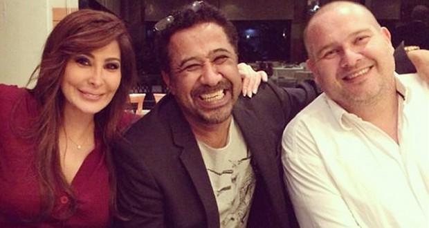 بالصور: ملكة الإحساس إليسا وملك الراي الشاب خالد معاً