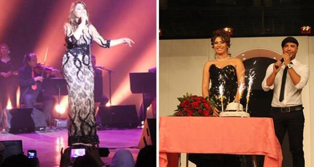بالصور: هدى سعد أحيت حفل مميز في بروكسيل وإحتفلت بعيد ميلادها