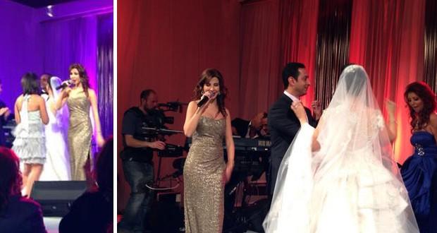 بالصور: نانسي عجرم أشعلت المسرح في حفل زفاف خاص في لندن
