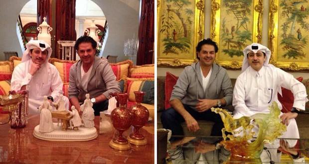 بالصور: راغب علامة في زيارة إلى قصر صديقه عادل علي بن علي