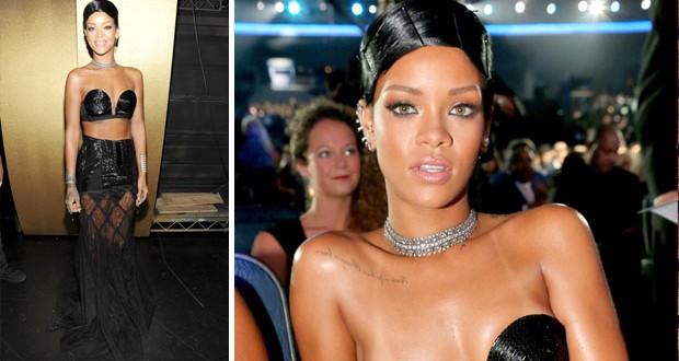 خاص بالصور: Rihanna تألّقت في الـ American Music Awards ووالدتها سلّمتها الجائزة