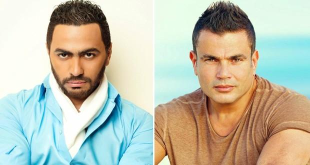 خاص: عمرو دياب يقلّد تامر حسني ويتحوّل من منافس إلى معجب