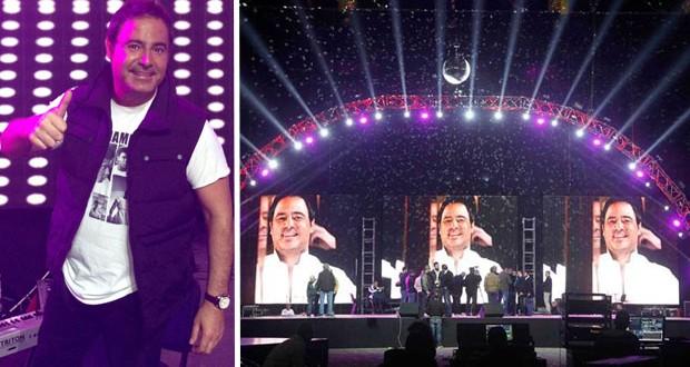 """بالصور: عاصي الحلاني وبروفات حفل رأس السنة: """"هنا، في بيروت سأغني"""""""