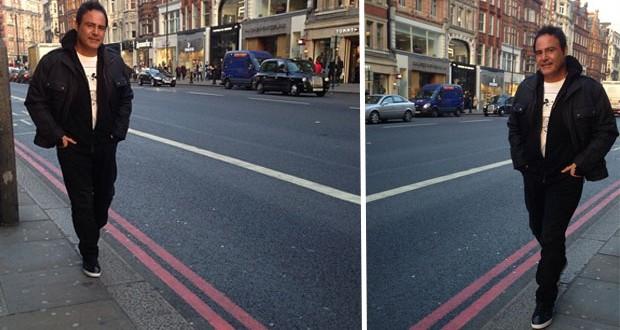 بالصور: عاصي الحلاني يتجوّل في شوارع لندن