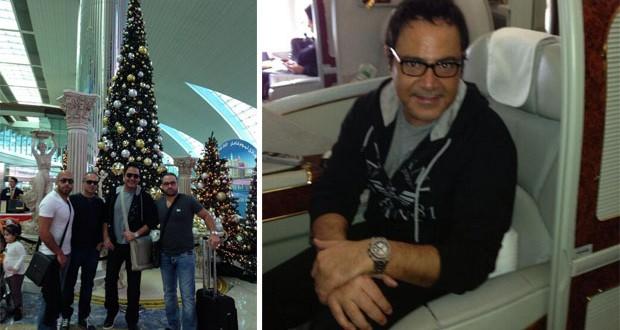 بالصور: عاصي الحلاني أمام شجرة العيد في مطار دبي، عاد إلى بيروت وبارك لـ ريما نجيم