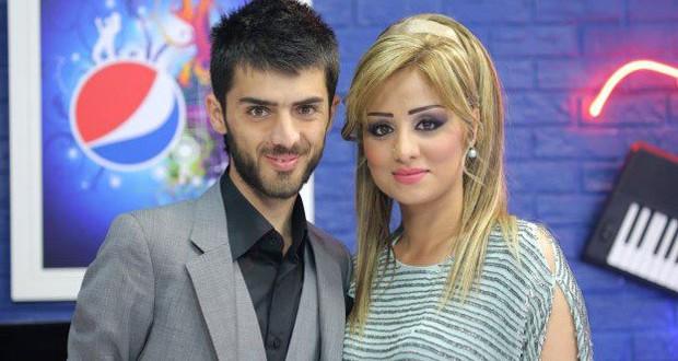 بالصور: برواس حسين شاركت زوجها الفنان كوران وأشعلت الجمهور في إربيل