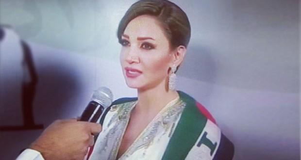 بالصورة: ديانا حداد تألقّت في حفل عيد الإمارات الوطني وهذه الهدية التي تلقّتها