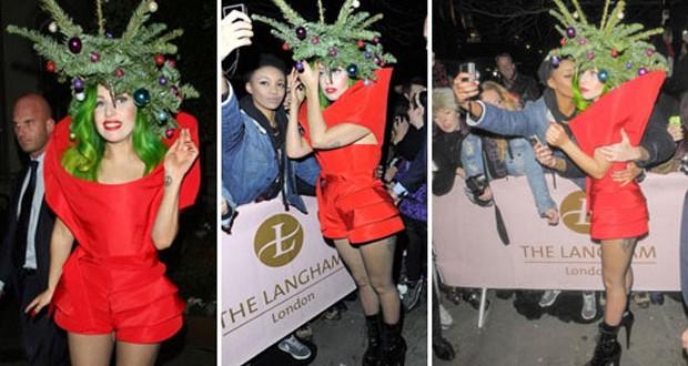 بالصور: Lady Gaga شجرة عيد الميلاد
