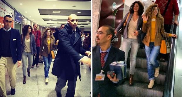 بالصور: هكذا إستقبلت ميريام فارس في مطار المغرب