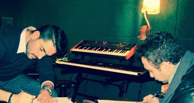 بالصور: حسام حبيب يتعاقد مع حسن الشافعي وينضم الى The Bassement Records