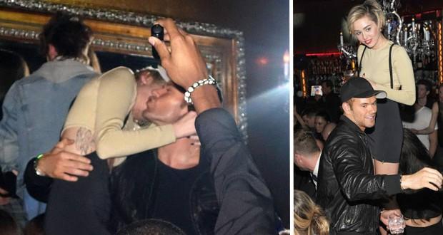 بالصور: Miley Cyrus تحت تأثير الكحول في أحضان بطل Twilight