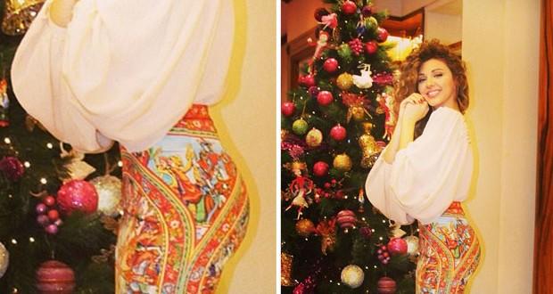بالصورة: ميريام فارس تألقت بجمالها ليلة عيد الميلاد، ورمز للموضة
