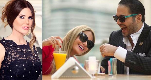 أولاً: رامي عياش وزروجته داليدا في أول ظهور لهما بعد الزواج مع الأولى منى أبو حمزة في حديث البلد