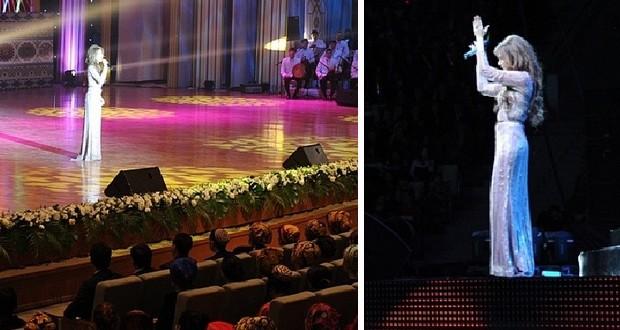 بالصور: نانسي عجرم أشعلت تركمنستان في حفلين والآلاف بإنتظارها في مصر