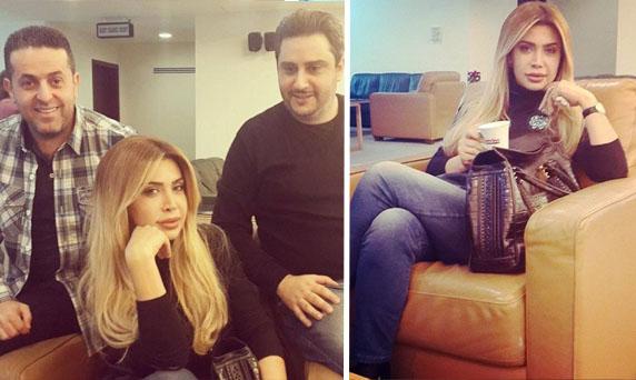 بالصور: نوال الزغبي في مطار بيروت مع إيلي العليا وباسكال مغامس