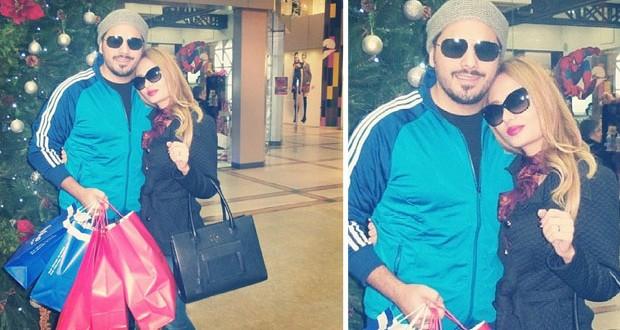 بالصورة: رامي عياش وزوجته السيدة داليدا يتسوّقان لعيد الميلاد