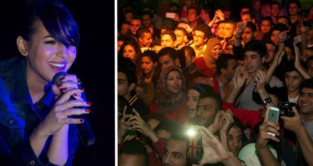 بالصور: ساندي أحيت حفلاً غنائياً ناجحاً في Nile Country Club