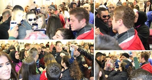 بالصور: تامر حسني إستُقبل إستقبال الملوك، الآلاف إنتظروه، ومظاهرة حبّ في مطار بيروت الدولي