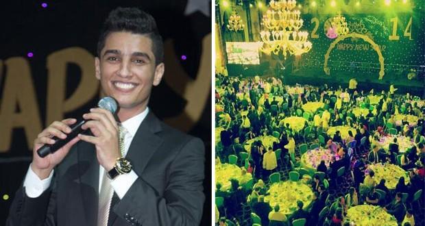 بالصور: محمد عساف في أجمل سهرات رأس السنة والكوفية إكتسحت الصالة