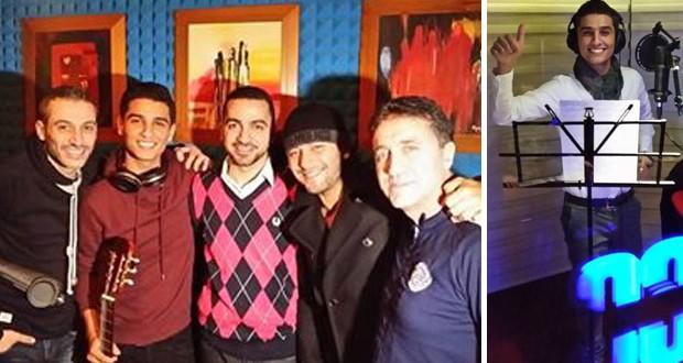 بالصور: محمد عساف يستكمل تسجيل أغنيات ألبومه وزار سفارة فلسطين في بيروت
