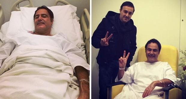 بالصورة: صابر الرباعي زار عاصي الحلاني في المستشفى