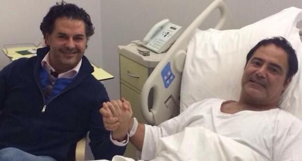 بالصورة: راغب علامة زار عاصي الحلاني في المستشفى