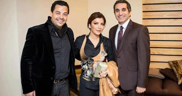 """بالصور: أصالة تستضيف باسم يوسف في """"صولا 3"""""""