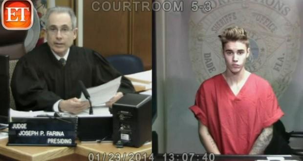 بالفيديو: Justin Bieber أمام القاضي