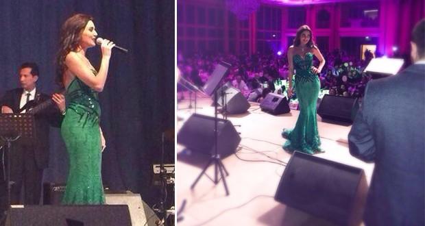 بالصور: سيرين عبد النور تألقة جمالاً بالأخضر ليلة رأس السنة في حفل جماهيري مميّز