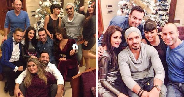 بالصور: سيرين عبد النور وزوجها، جوزيف عطية والأصدقاء على العشاء إحتفالاً بالسنة الجديدة