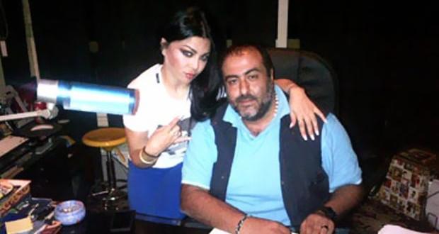 """بالصورة: هيفاء وهبي إلى جانب المخرج سامح عبد العزيز أثناء مونتاج """"حلاوة روح"""""""