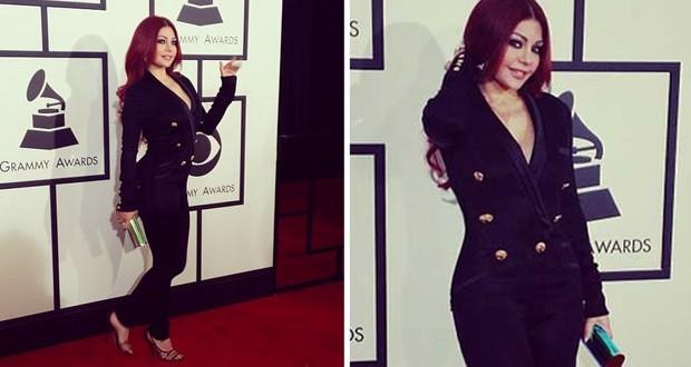بالصور: هيفاء وهبي تألّقت على السجادة الحمراء في الـ Grammy Awards