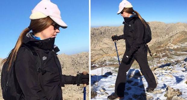 بالصورة: جوليا بطرس في ربوع جبال لبنان وعلى الثلج