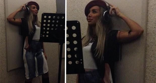 بالصورة: مايا دياب تشرف على الإنتهاء من العمل على ألبومها الجديد